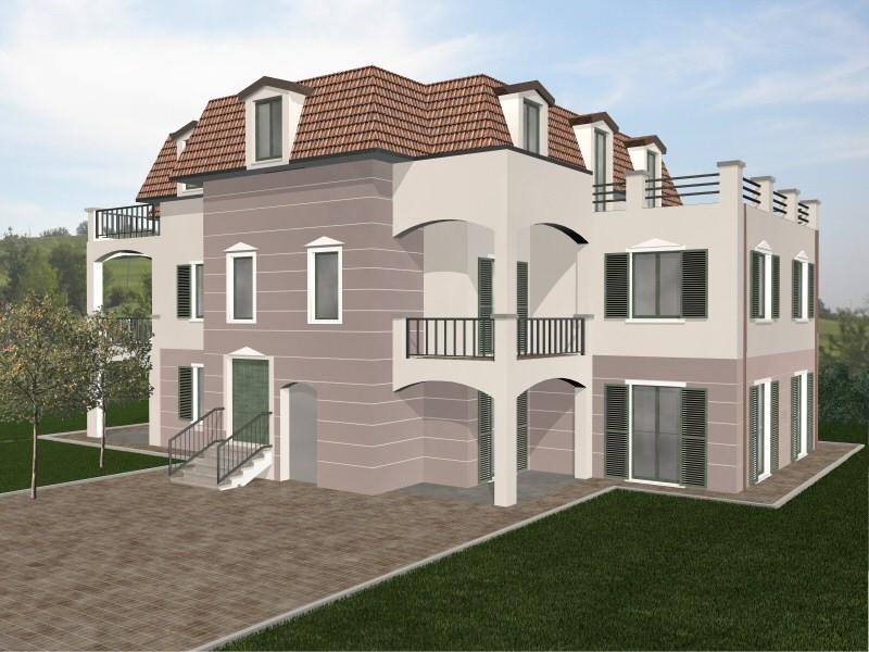 Abitazioni prefabbricate render casa legno bioedilizia - Prefabbricato casa ...